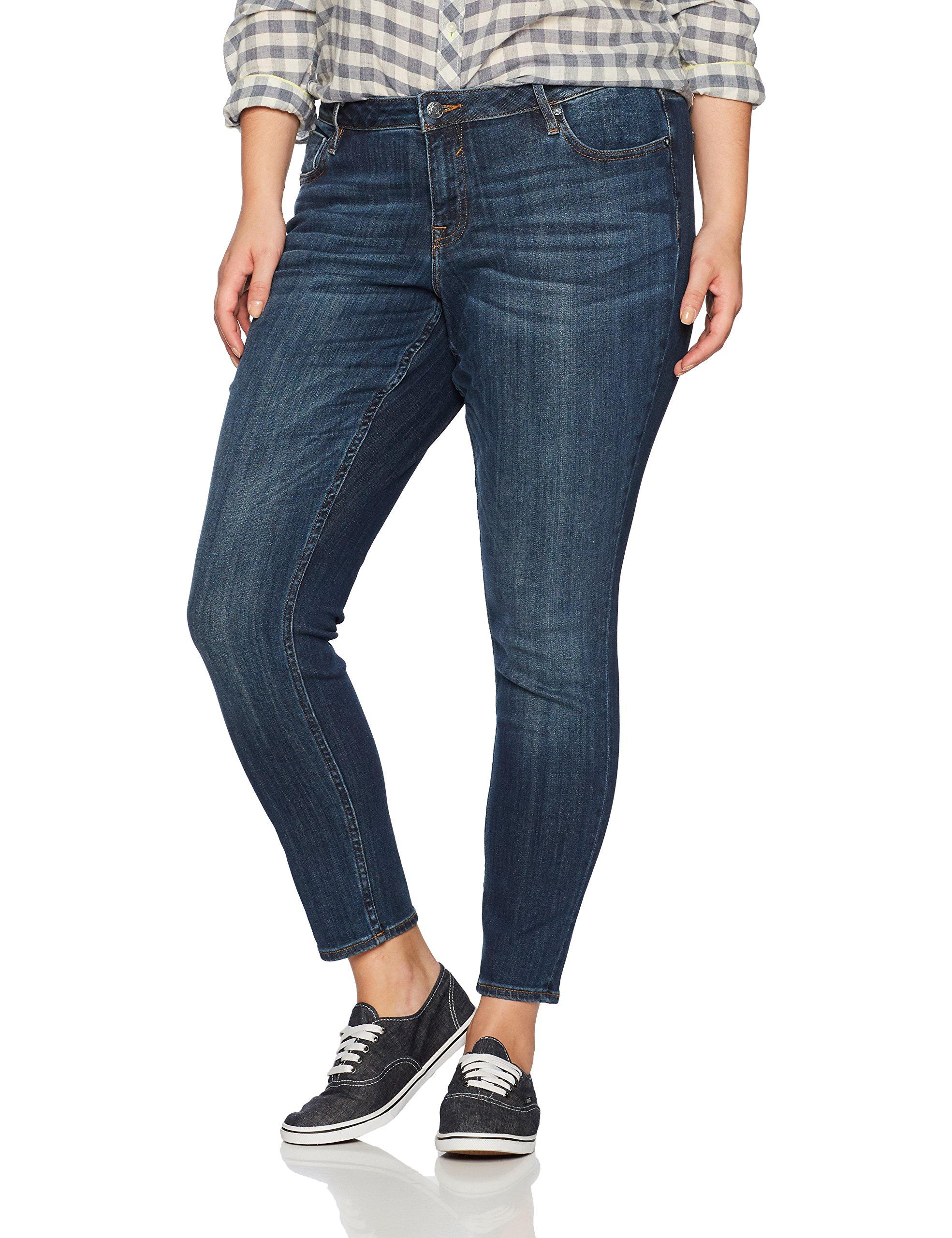 Vigoss Women's Plus Size Jagger Classic Fit Skinny Jean, Clean Dark, 22