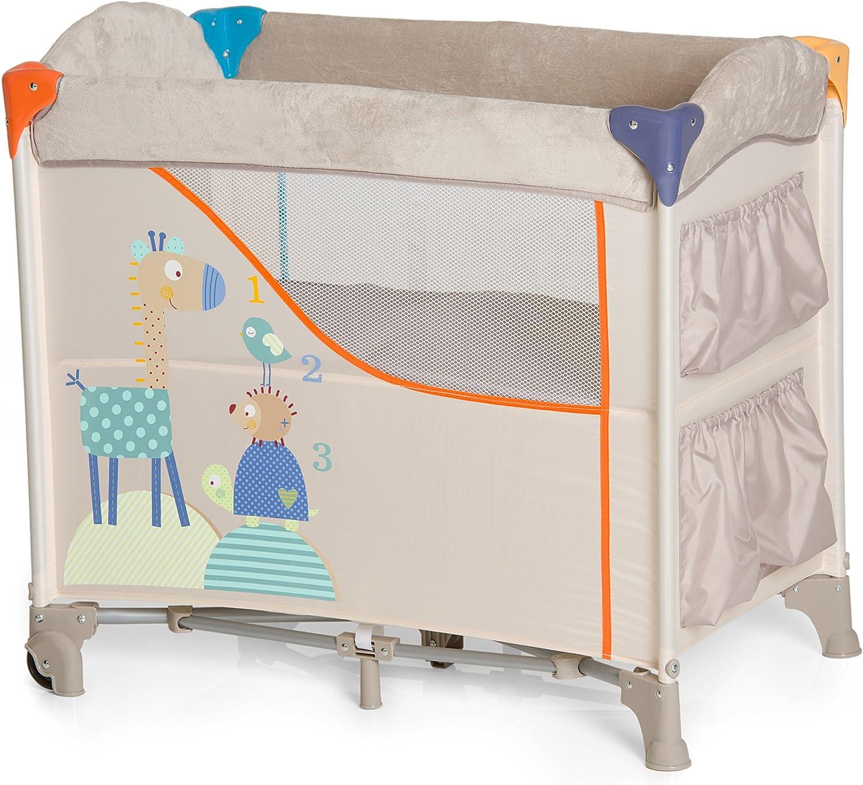 Pliable Roues Hauck Sac de Transport Lit Parapluie avec Matelas Animals Lit Cododo 5 Pi/èces 80 x 44 cm Beige Sleep N Care Poches