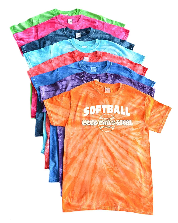 ソフトボールTie Dye Tシャツ –