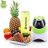 NUTRILOVERS Blender / Mixeur à Smoothie - Machine pour réaliser Smoothies et Jus de Fruits + Bouteille Mix & Go sans BPA - vert