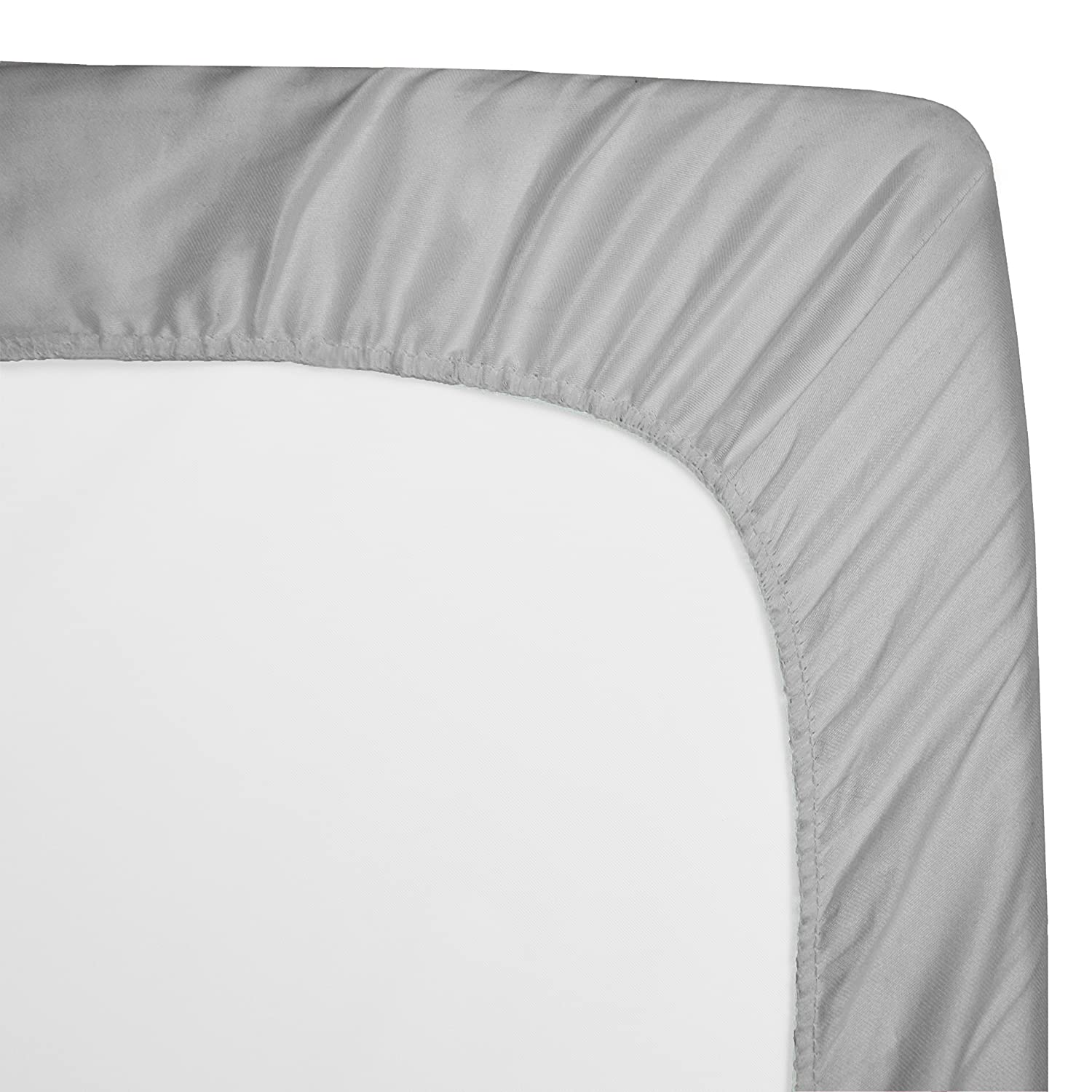 American Baby Company 100/%  Natural Cotton Percale Fitted Crib Sheet for Standard Crib and Toddler Mattresses White for Boys and Girls Soft Breathable
