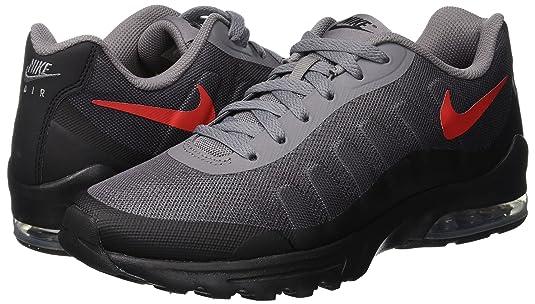 Nouveaux produits b5ddc 9c4e7 Nike Men's Air Max Invigor Print Running Shoe, Gunsmoke/University  Red-Black, 13