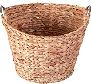 Vintiquewise QI003364.L Large Round Water Hyacinth Wicker Laundry Basket