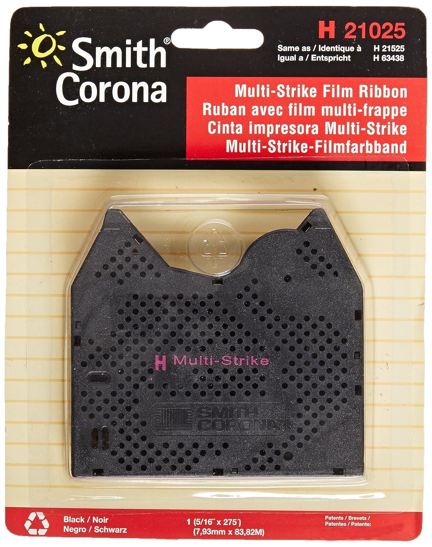 Smith Corona H21025 Multi-Strike Film Black Ribbon Cassette, Pack of 1
