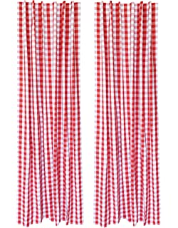 Delicieux 2Pack Gingham Check Cotton Curtain 42x96 Red White   Window Treatment,  Décor Panel,
