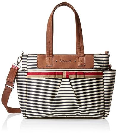 0c01eda230aae Amazon.com : Babymel Cara Shoulder Bag Diaper Bag, Stripe Navy : Baby