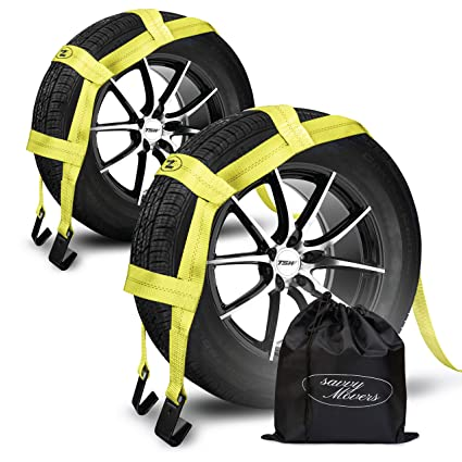 Amazon Com Tow Dolly Straps With Flat Hooks Carrying Bag 2 Pack