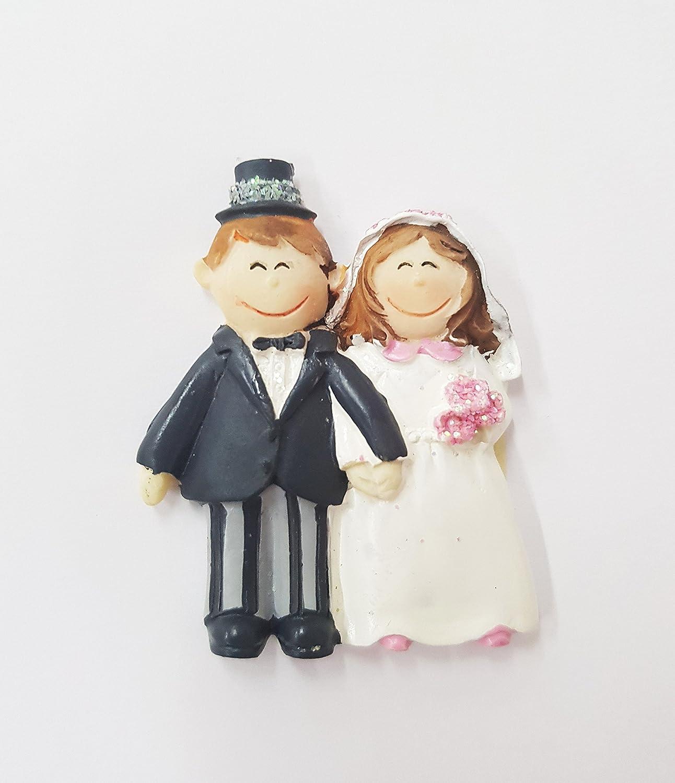 Segnaposto Matrimonio Sposi.Takestop Set 12 Pezzi Sposi Sposini Wedding In Ceramica