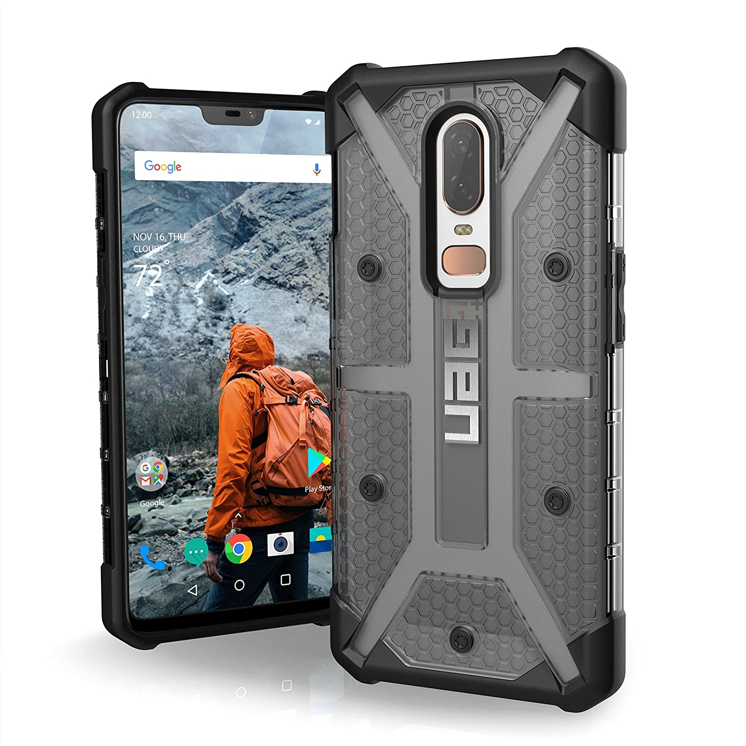 size 40 33629 3262a Urban Armor Gear UAG Plasma Feather Light Rugged Military Drop Tested Case  Cover for OnePlus 6