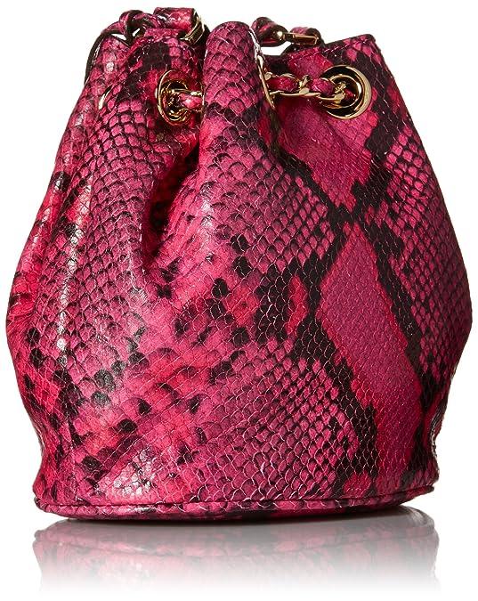 cfdec4f47e79 Michael Kors Rasberry Embossed Leather Frankie Drawstring Crossbody:  Handbags: Amazon.com