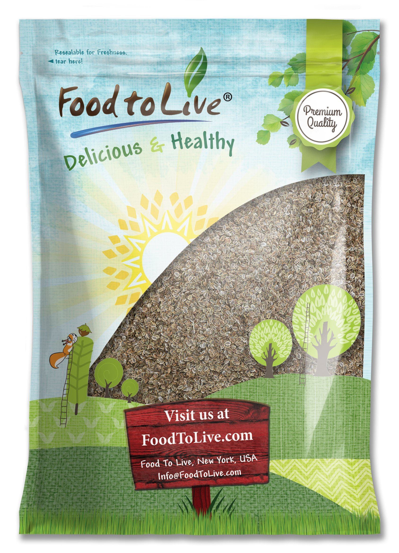 Dill Seeds Whole by Food to Live (Kosher, Bulk) — 5 Pounds