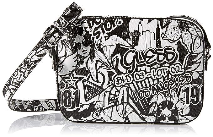Amazon.com: GUESS Kamryn Graffiti Crossbody Top Zip, talla ...