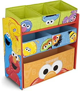 Delta Children Multi Bin Toy Organizer, Sesame Street