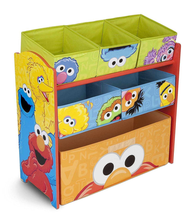 Sesame Street Delta Children Multi-Bin Toy Organizer Delta Enterprise TB84735SS