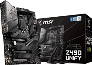MSI MEG Z490 Unify ATX Gaming Motherboard (10th Gen Intel Core, LGA 1200 Socket, SLI/CF, Triple M.2 Slots, USB 3.2 Gen 2, Wi-Fi 6)