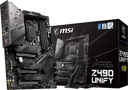 Msi Meg Z490 Unify Atx Gaming Motherboard 10th Gen Computers Accessories