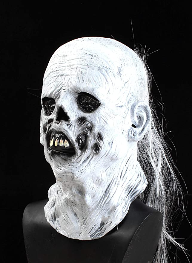 RAPGET Horror Old Man Mask Halloween Novelty Costume Party Latex Full Head Mask Zombie Cosplay Props