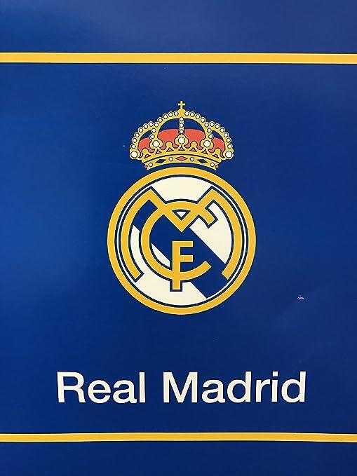 "New Licensed Real Madrid Luxury Plush King Size Blanket 84/""X94/"""