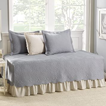 stone cottage 5piece daybed cover set trellis gray