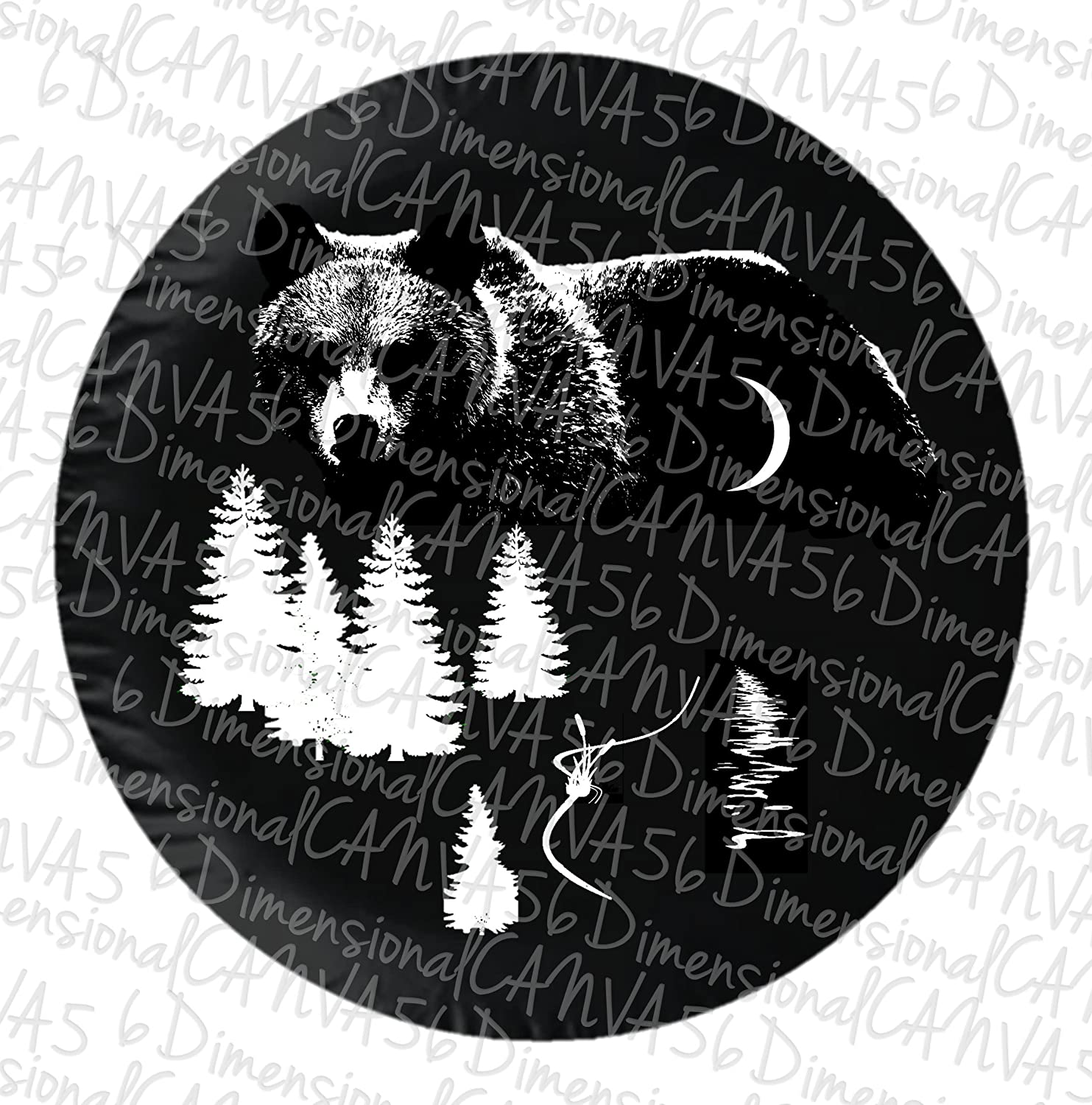 Bear Moon jeep tire cover