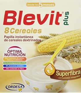 Blevit Plus Superfibra 8 Cereales - Paquete de 2 x 300 gr - Total: 600