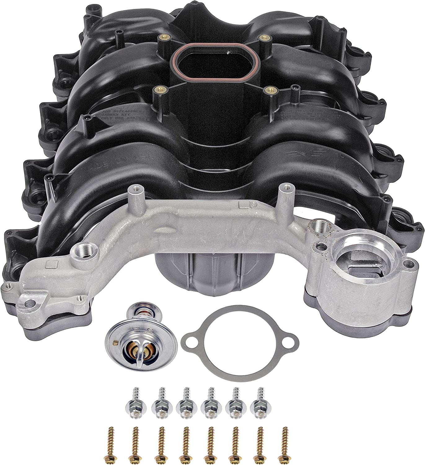 Dorman 615-178 Upper Plastic Intake Manifold - Includes Gaskets for Select Ford/Lincoln/Mercury Models (MADE IN USA),Black