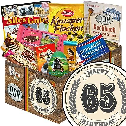 Geschenk Zum 65 Ddr Korb Geschenke 65 Geburtstag Mann Amazon