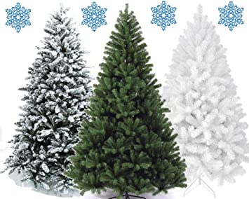 Kunststoff Weihnachtsbaum.Xonic Kunstlicher Weihnachtsbaum Tannenbaum 30 60 90 120 150 180 210 240cm Christbaum Baum Grun Weiss Schnee 60 Weiss
