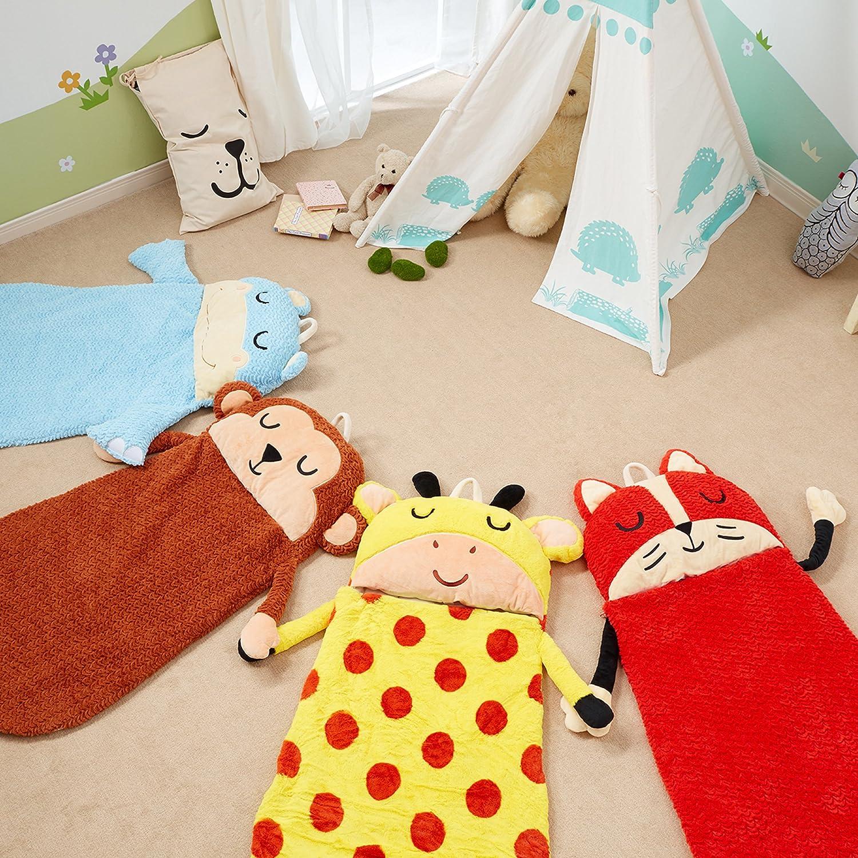 Plush Sleeping Bag Fox Portable Slumber bag Fantasy Fields Great for Nap Time