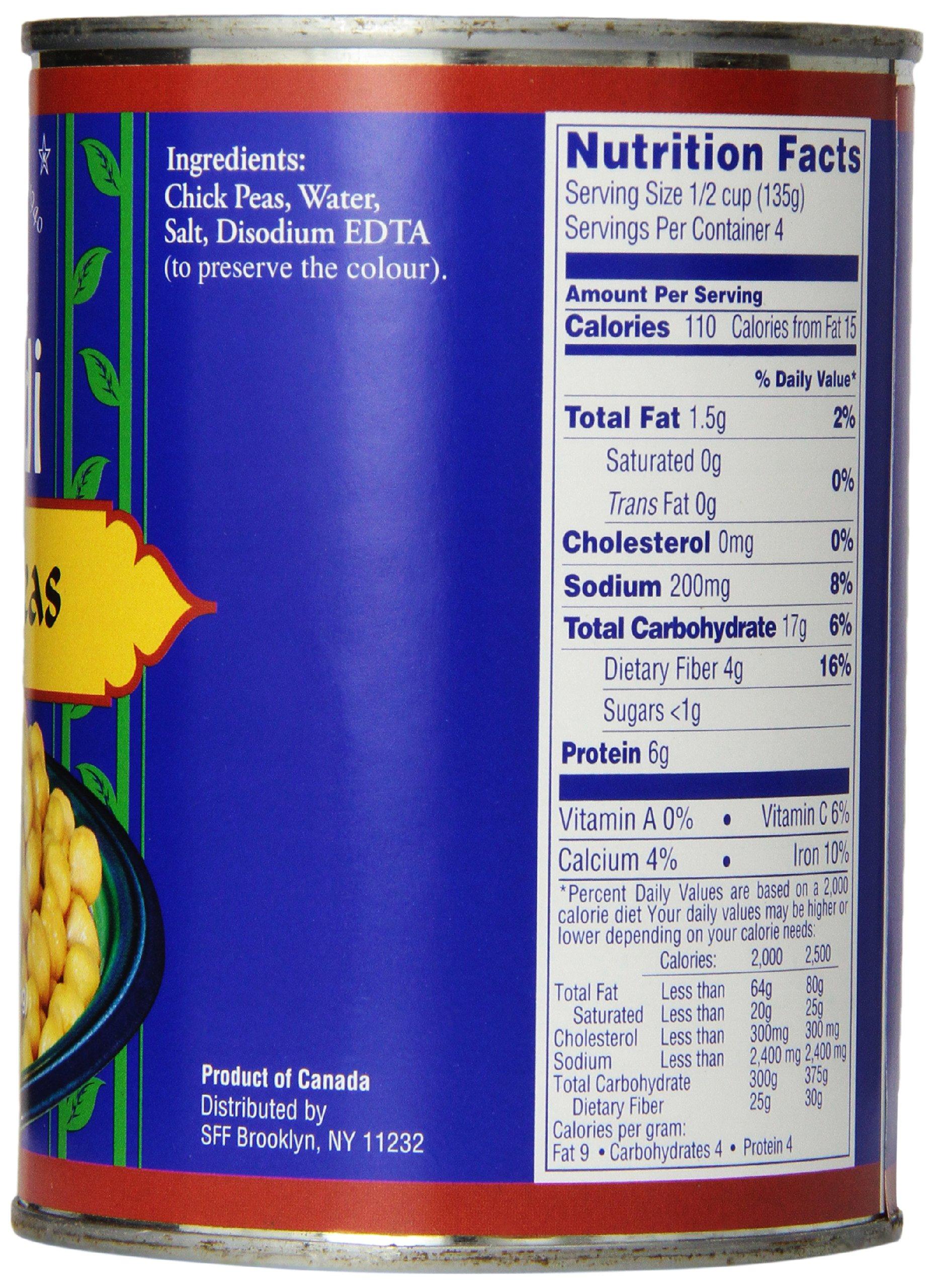 SAHADI Chick Peas, 20-Ounce (Pack of 12)
