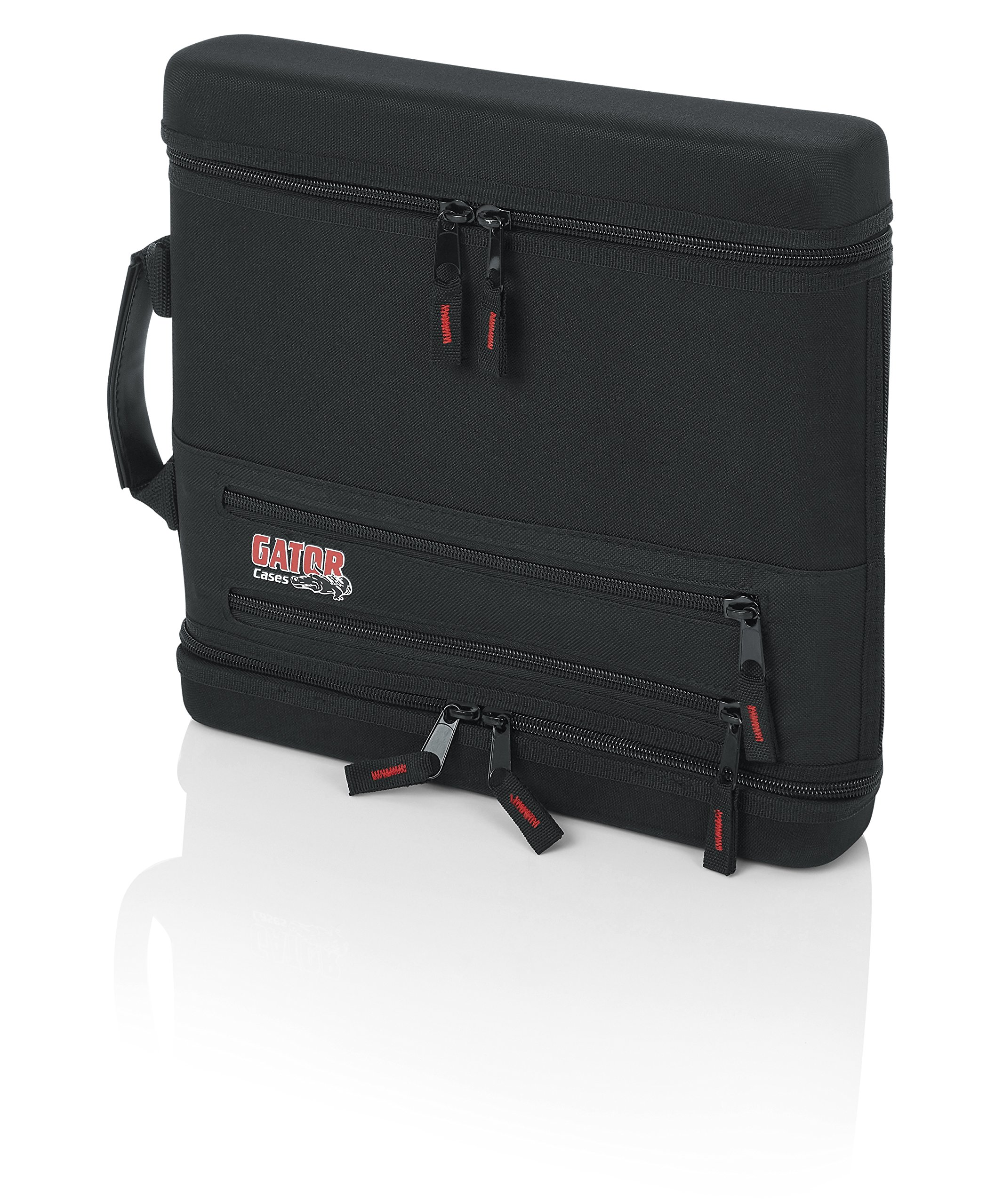 Gator Cases Slim EVA Carry Case for Single Wireless Microphone System; Live-in Style Holds Reciever, Body Pack, and Microphone with Antenna Access (GM-1WEVAA) by Gator