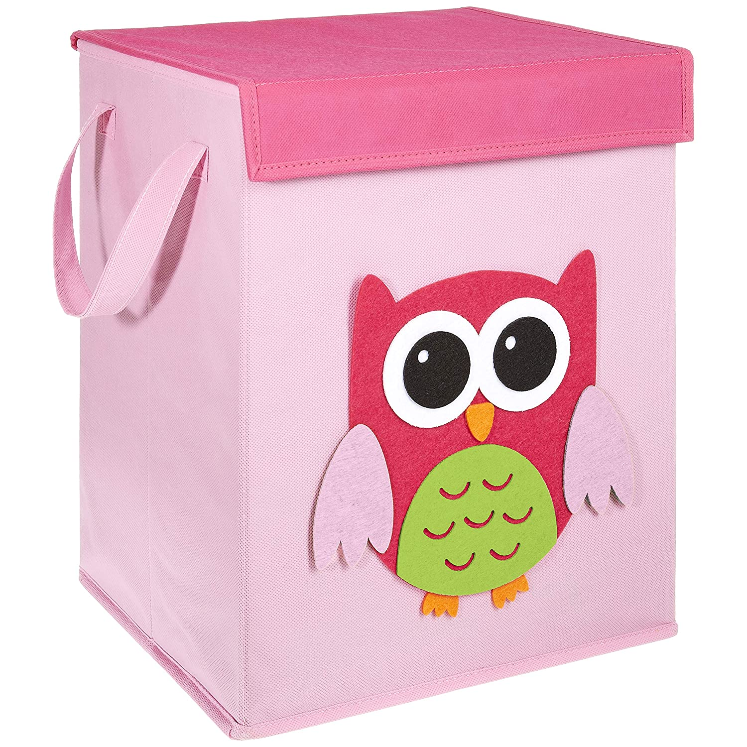 FABELBUNT® Foldable toy box with colorful motifs and lots of storage space and cover (37x 30x 26cm) Mercatura MWH-3034