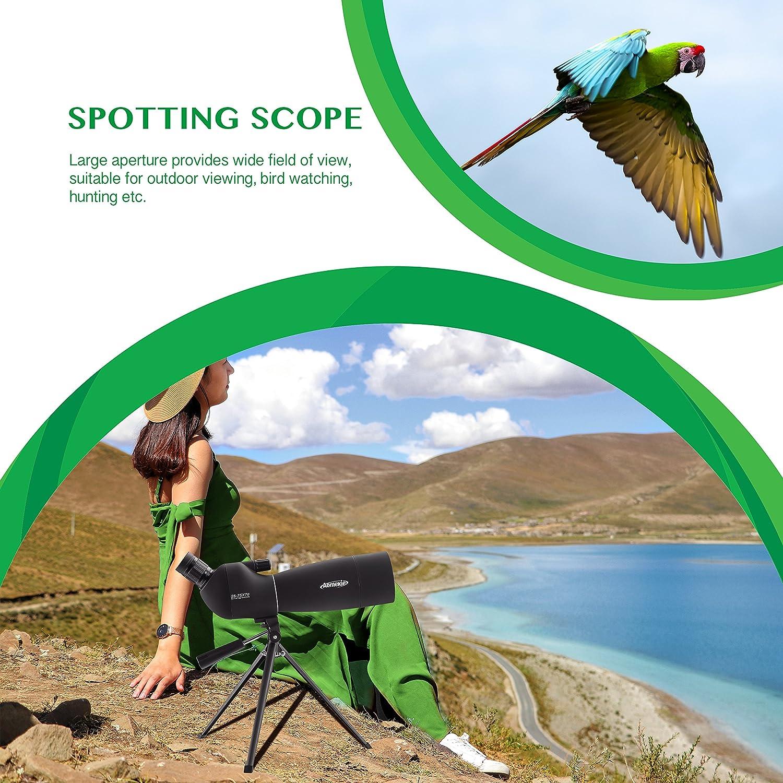 Aomekie Cannocchiale Professionale 25-75x70 Spotting Scopes con Treppiede Osservare Ornitologiche Attivit/à Esterna