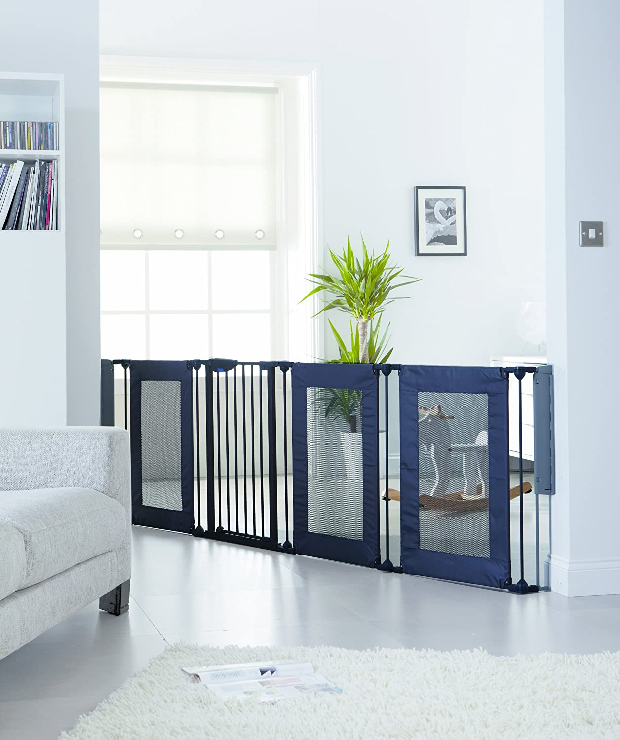 Lindam 3 in 1 Fabric PlaypenRoom Divider and Baby Safety Gate