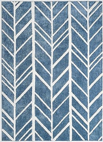 Anji Mountain Alder Rug, 10 x 14 , Blue