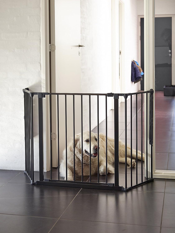 Scandinavian Pet Design SPD Extra Wide Flexible Pet Gate Black