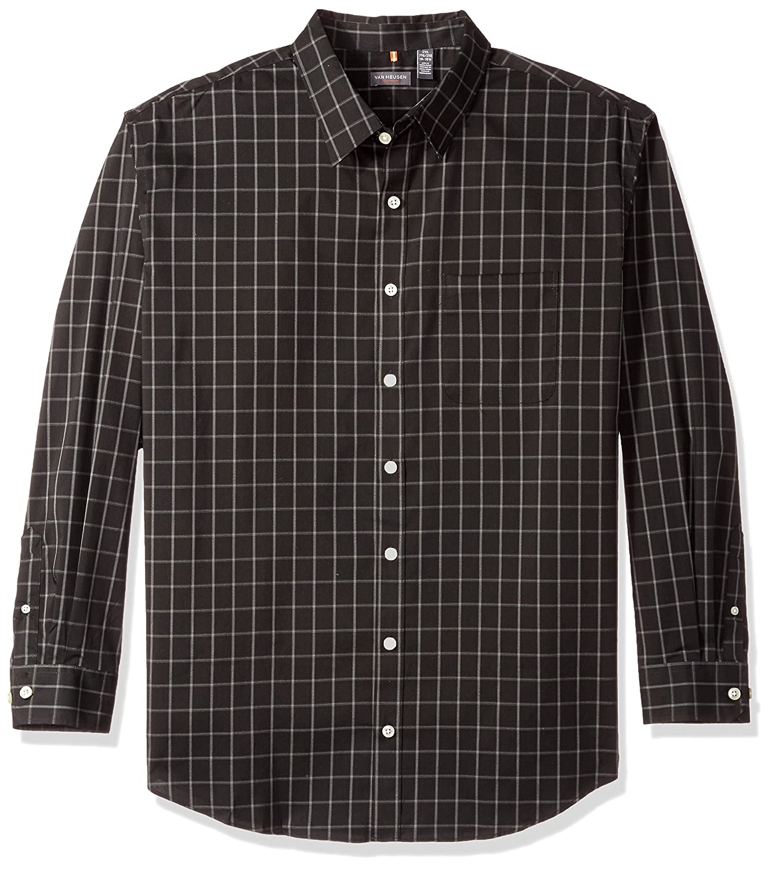 Van Heusen Mens Big and Tall Long-Sleeve Traveler No-Iron Button-Front Shirt 50W5777