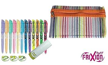 Textmarker Frixion Light2 6er Set pink-orange-gelb grün-blau-violett
