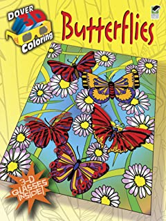 3 d coloring book butterflies dover 3 d coloring book