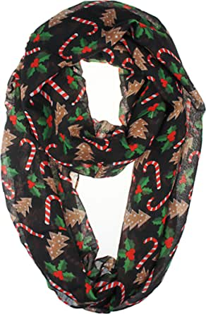 VIVIAN & VINCENT Soft Light Weight Christmas Holiday Festival Sheer Scarf