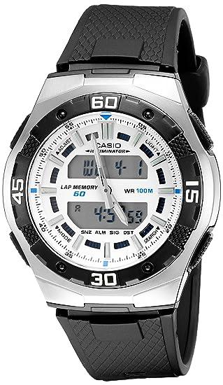 Casio AQ164W-7AV - Reloj de Pulsera Hombre, Resina, Color Negro