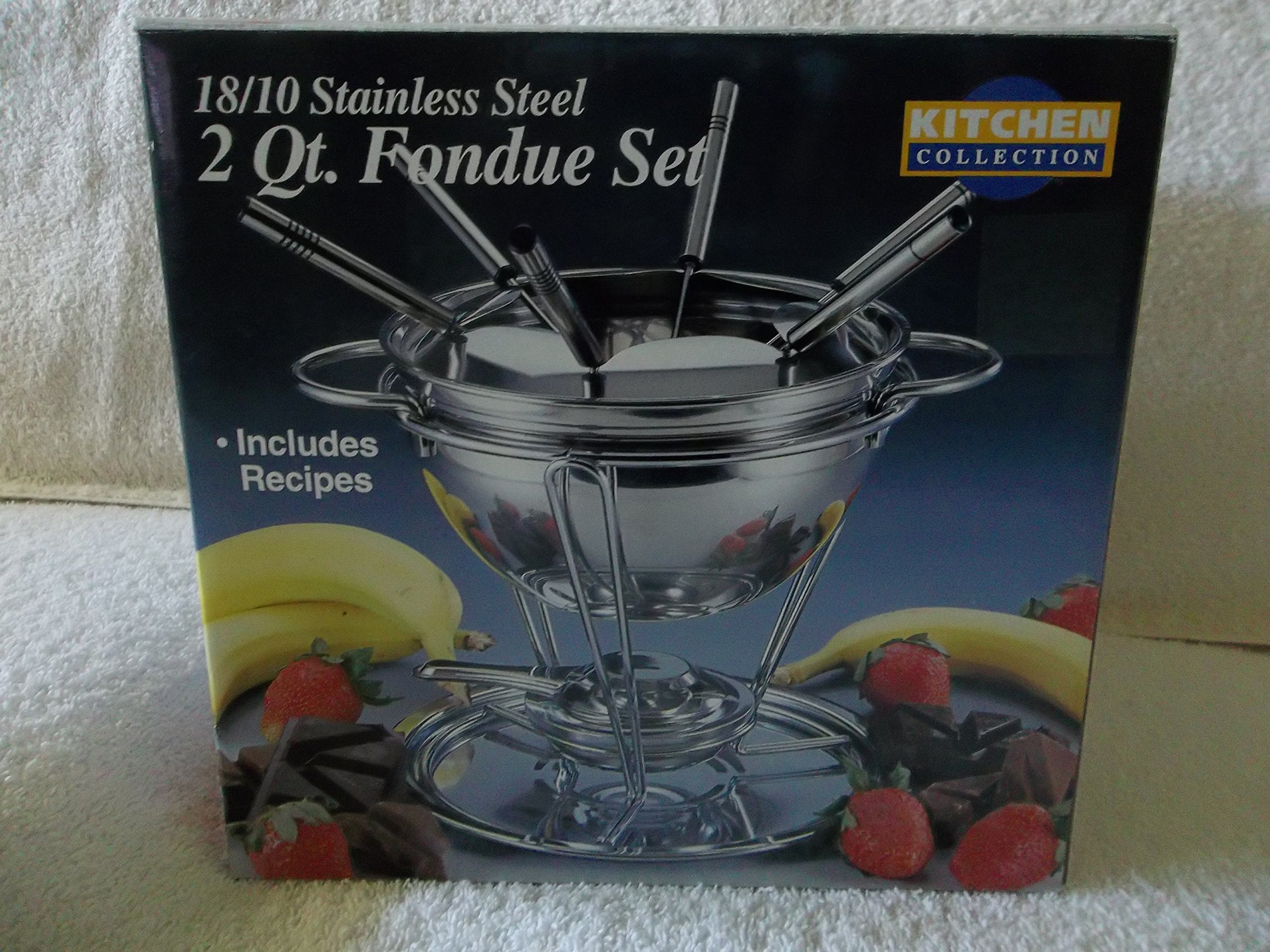 KITCHEN COLLECTION 18/10 Stainless Steel 2qt. Fondue Set