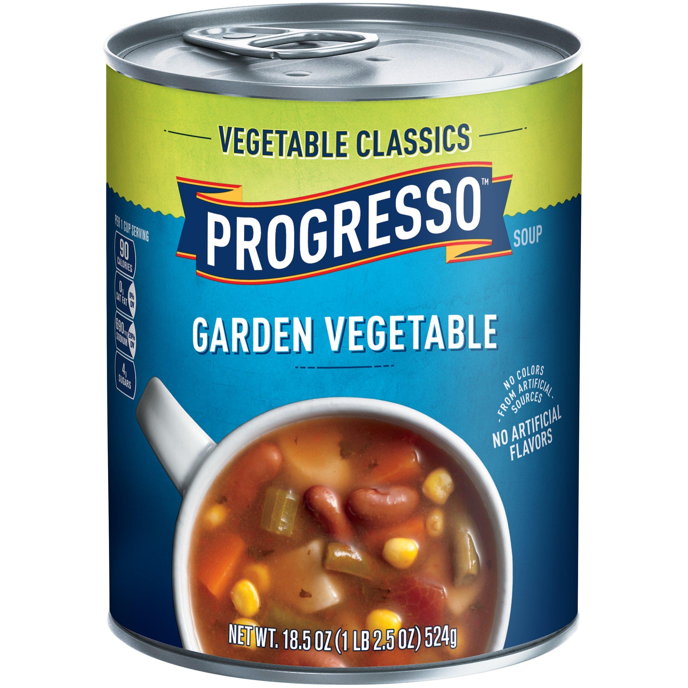 Progresso Soup, Vegetable Classics, Garden Vegetable Soup, Gluten Free, 18.5 oz Can