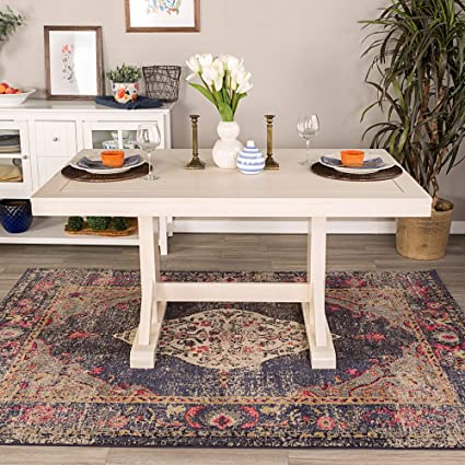 Amazon.com - Overstock 60-inch Millwright Wood Dining Table ...