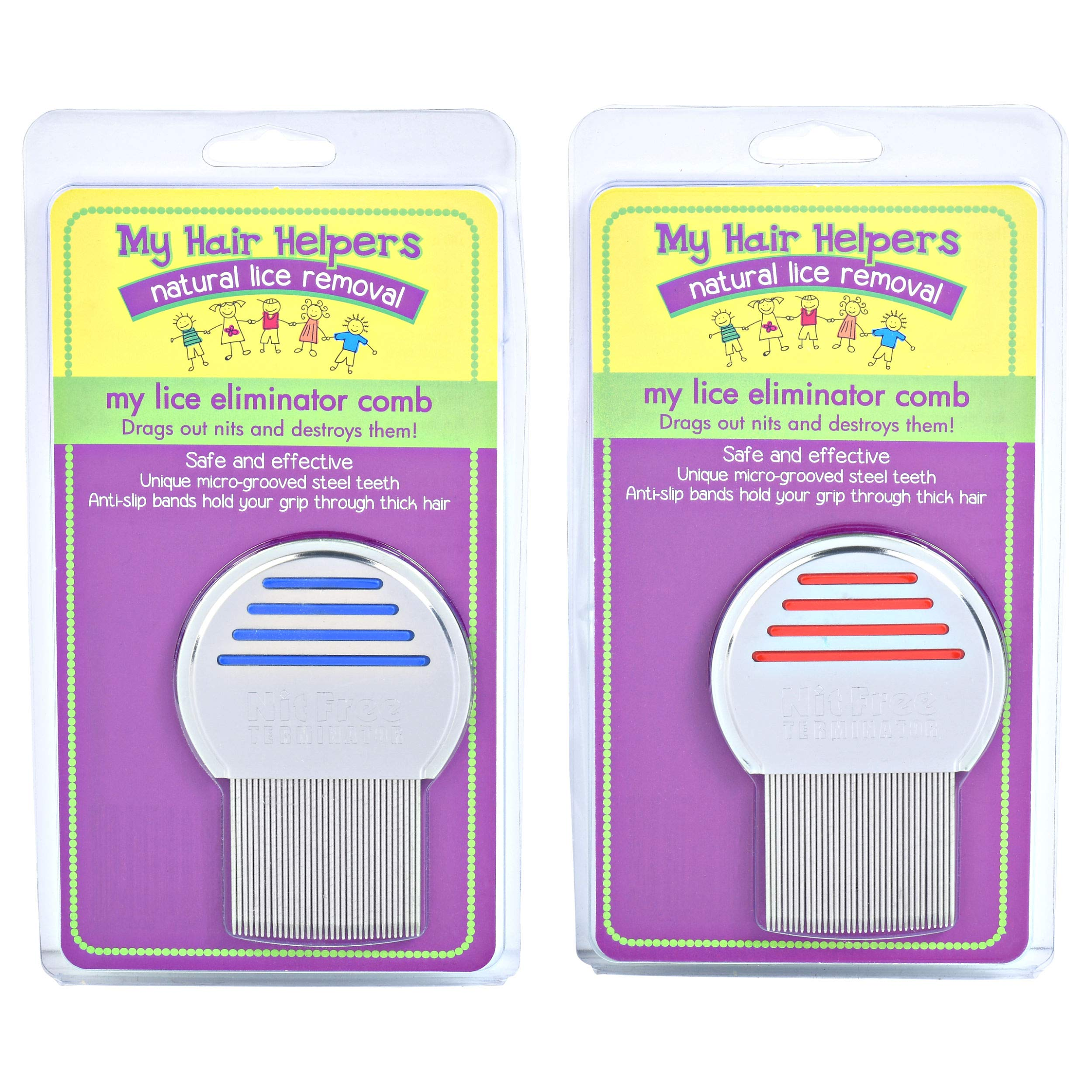 Lice Treatment Comb Stainless Steel Effectively Removes Louse and Nits with Head Lice (2) by MY HAIR HELPERS NATURAL LICE REMOVAL