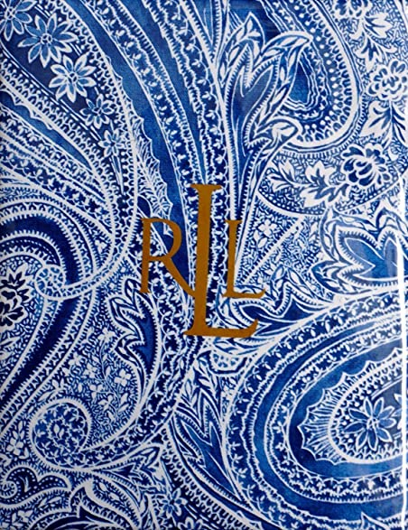 Ralph Lauren Veranda Paisley Blue Tablecloth, 70 Inch Round