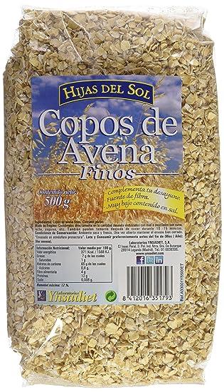 Hijas Del Sol Copos Avena Finos - 500 gr - [Pack de 8]