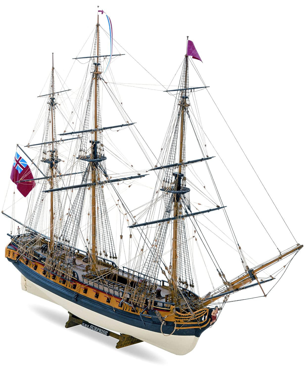 Amazon.com: Mamoli 58 1 by 75 HMS Surprise 3 - Masted 1799 ...