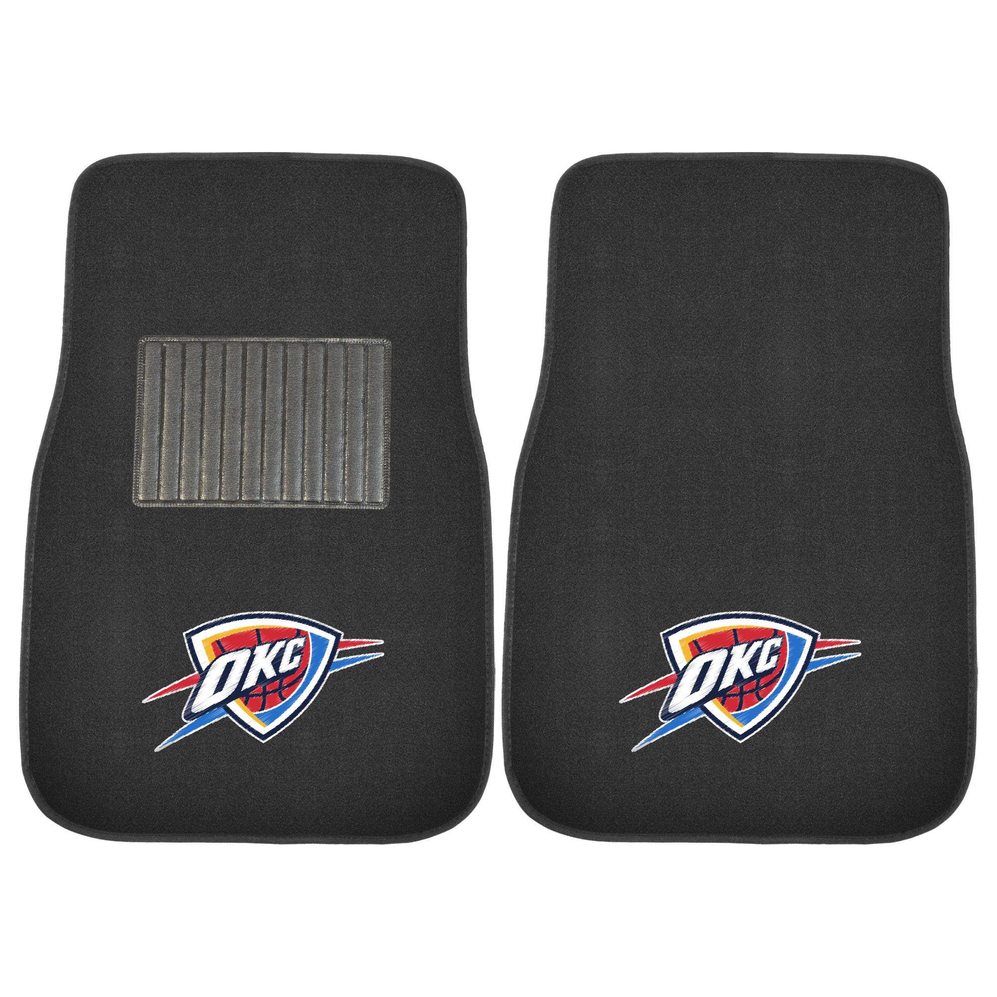 Fanmats 17612 NBA Oklahoma City Thunder 2-Piece Embroidered Car Mat by Fanmats