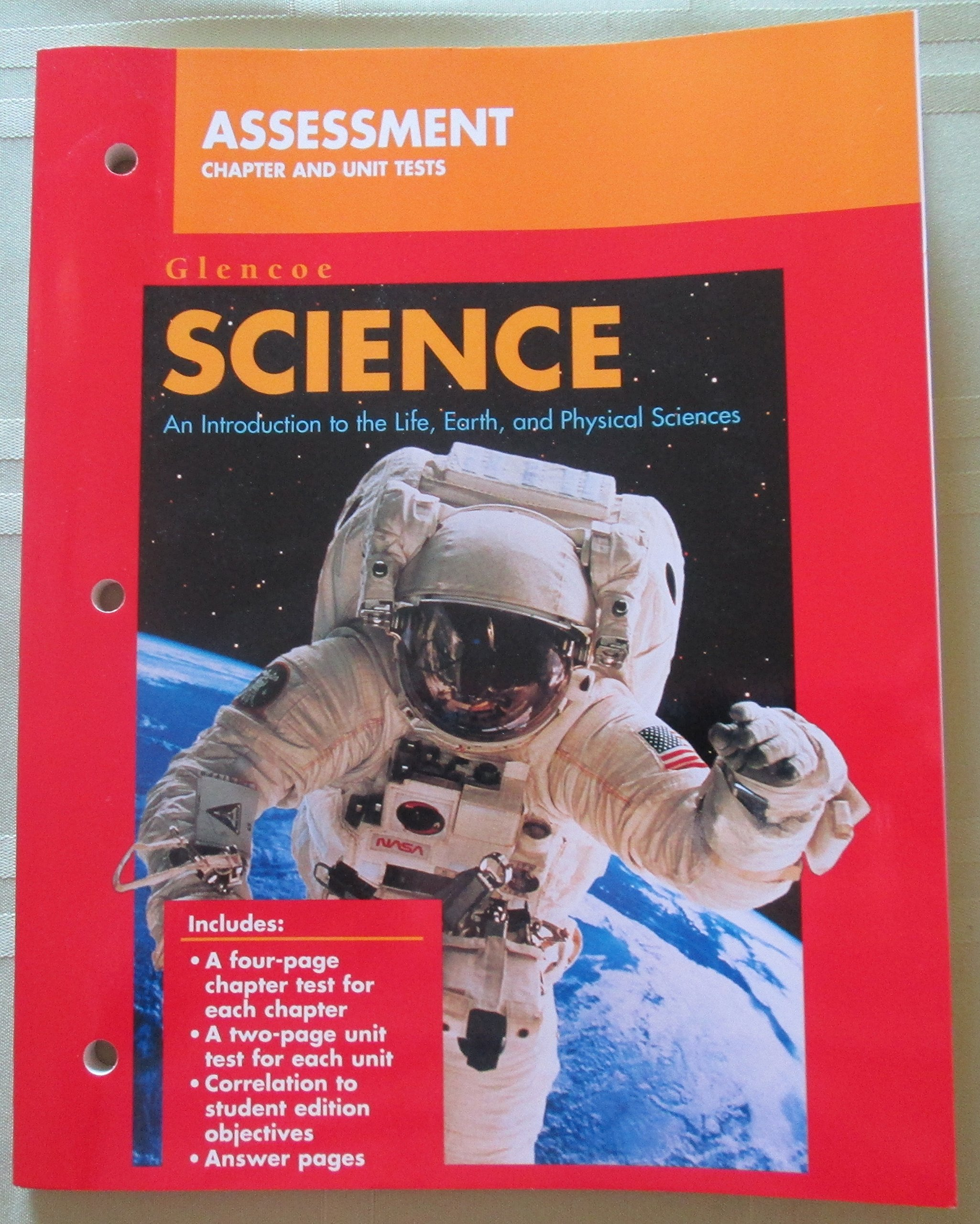 Glencoe Science: An Introduction to the Life, Earth, and Physical Sciences, Assessment Chapter and Unit Tests pdf